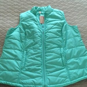 Turquoise puffer vest 2X